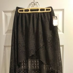 Joe Benbasset Black High Low Lace Skirt